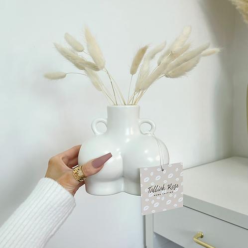 Cloudy White Body Sculpt Ceramic Vase (20th April Dispatch)