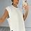 Thumbnail: ESME White Oversized Soft Knit Sleevless Jumper (SALE)