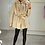 Thumbnail: BRONTE Cream Thick Faux Fur & Leather Hooded Coat (SALE)