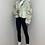 Thumbnail: LYDIA Beige Vegan Leather & Fur Panelled Jacket