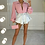 Thumbnail: ILIANA Pink Oversized Collar Gold Button Shirt (Bag Included)