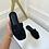 Thumbnail: ALEX Black Faux Suede Slip On Sandals