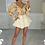 Thumbnail: CARMEN Yellow/Lilac Balloon Sleeve Chiffon Top