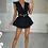 Thumbnail: RENE Black Satin Tie Front Crop Top