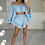 Thumbnail: EVIE Blue Lightwight Bell Sleeve Co Ord