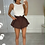 Thumbnail: CALI Chocolate Cinched Waist Denim Skort