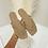 Thumbnail: PAISLEY Caramel Quilted Flip Flops (SALE)