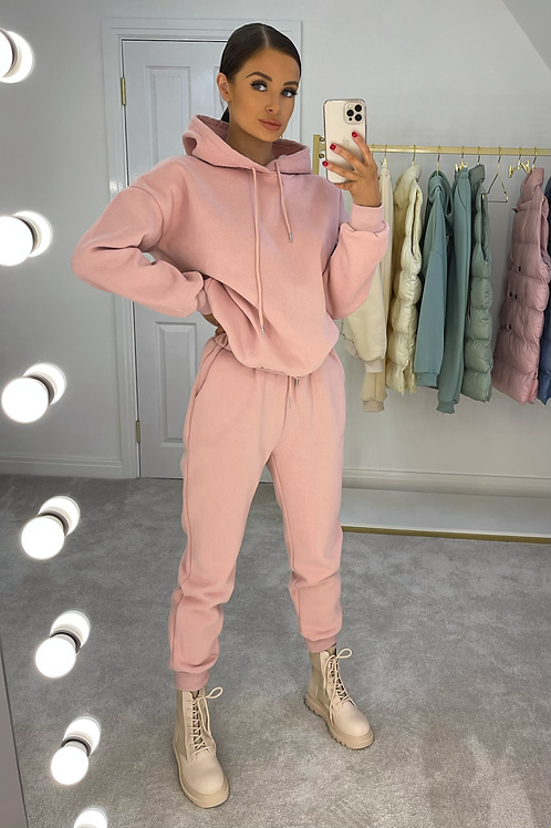 ROBIN Pink Premium Thick Fleece Lounge Set
