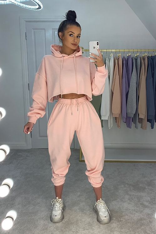 PAIGE Baby Pink Oversized Tracksuit Set