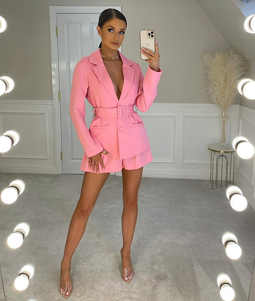OAKLEIGH Hot Pink Blazer & Shorts Co Ord (SALE)