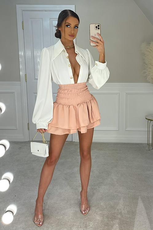 KENDRA Blush High Waisted Gypsy Skirt