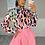 Thumbnail: IMOGEN Pink Multi Leopard Chiffon Shirt