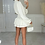 Thumbnail: ILIANA White Oversized Collar Gold Button Shirt (Bag Included)