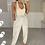 Thumbnail: APRIL Beige Premium Rib Asymmetric Bodysuit