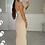 Thumbnail: SOPHIA Beige Ribbed Maxi Bodycon Dress