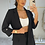 Thumbnail: ELIZABETH Black Structured Pant Suit (SALE)