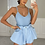 Thumbnail: ADELE Blue Cinched Waist Denim Skort