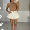 Thumbnail: CALI Cream Cinched Waist Denim Skort
