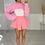 Thumbnail: ZARA Hot Pink Extreme Crop Oversized Jumper