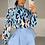 Thumbnail: IMOGEN Blue Multi Leopard Chiffon Shirt