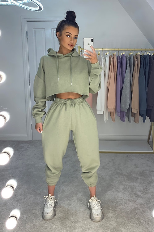PAIGE Sage Green Oversized Tracksuit Set