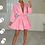 Thumbnail: RUBY Candy Pink Belted Frill Shirt Dress