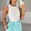 Thumbnail: JENNA White Ribbed Bodysuit