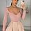 Thumbnail: DEXY Blush High Waisted Flared Shorts