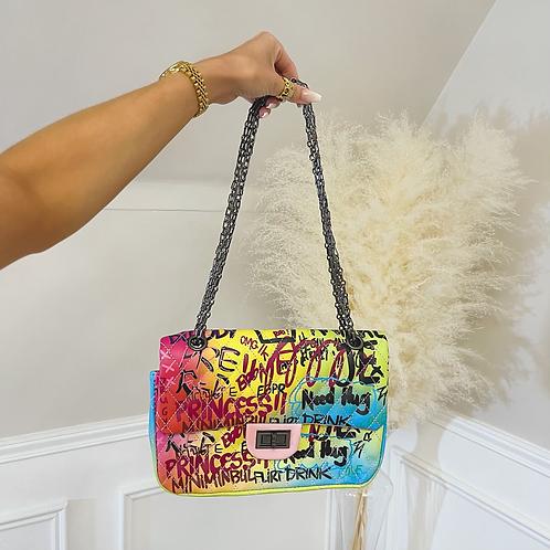 BAILEY Multi Coloured Bright Graffiti Handbag (Dispatch 4th Aug)