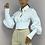 Thumbnail: MARY White Cropped Baloon Sleeve Shirt