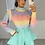 Thumbnail: HALLIE Rainbow Soft Knit Jumper