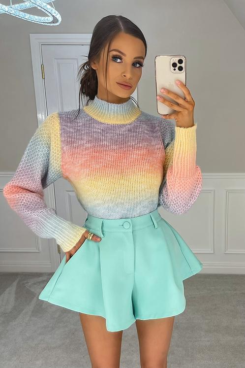 HALLIE Rainbow Soft Knit Jumper