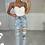 Thumbnail: DELLA Blue Cigarette Distressed Jeans (SALE)