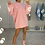 Thumbnail: MAISIE Candy Pink Buffalo Oversized Jumper Dress