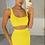 Thumbnail: ALYSSA Premium Yellow Ribbed Maxi Co Ord