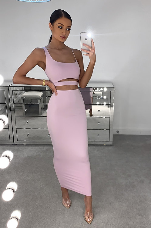 TIFFANY Lilac Soft Touch Midi Two Piece (SALE)