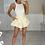 Thumbnail: AVRIL Oyster White Slinky Double Fabric Bodysuit