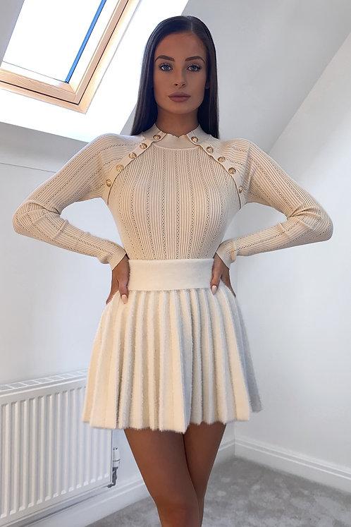 OAKLEY Cream Long Sleeved Knit Bodysuit (SALE)