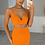 Thumbnail: ERIN Orange Thick Ribbed Co Ord