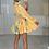 Thumbnail: PALOMA Premium Lemon Tie Dye Belted Frill Dress