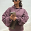 Thumbnail: ZOE Plum/Choc Ruched Sleeve Oversized Hoodie