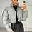 Thumbnail: MATILDA Grey Cropped Reflective Puffer Jacket