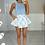 Thumbnail: AVRIL Powder Blue Slinky Double Fabric Bodysuit
