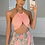 Thumbnail: RIVER High Waisted Peach/Beige Paisley Palazzo Trousers