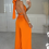 Thumbnail: ELLA Orange Multiway Silky Palazzo Co Ord