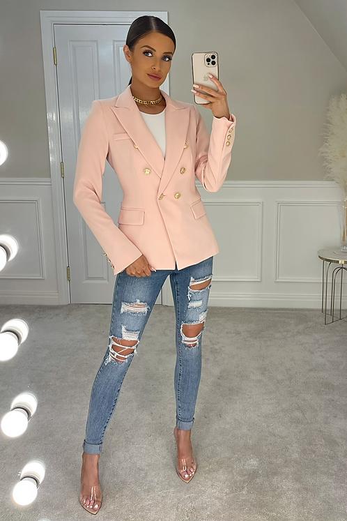 ANNABELLA Rose Gold Buttoned Tailored Blazer