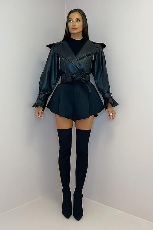MARGO Black Vegan Leather Jacket