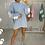 Thumbnail: MAISIE Ice Blue Buffalo Oversized Jumper Dress