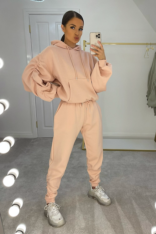 FREYA Peach Rouched Detail Tracksuit Set