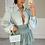 Thumbnail: ILIANA Sage Oversized Collar Gold Button Shirt (Bag Included)